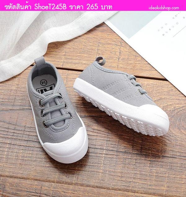รองเท้าแต่งเชือกคาด แฟชั่น AiLvYang สีเทา