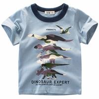 เสื้อยืดเด็ก-Dinosaur-สีฟ้า