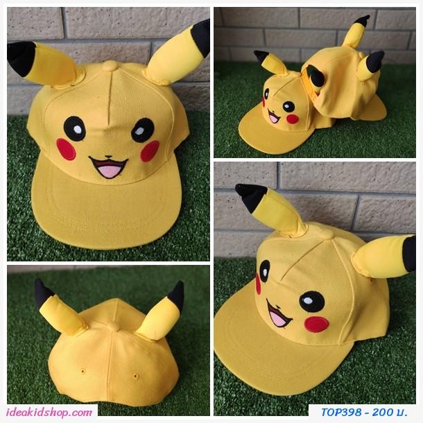 หมวกแก๊ป Snapback  ปิกาจู Pokemon