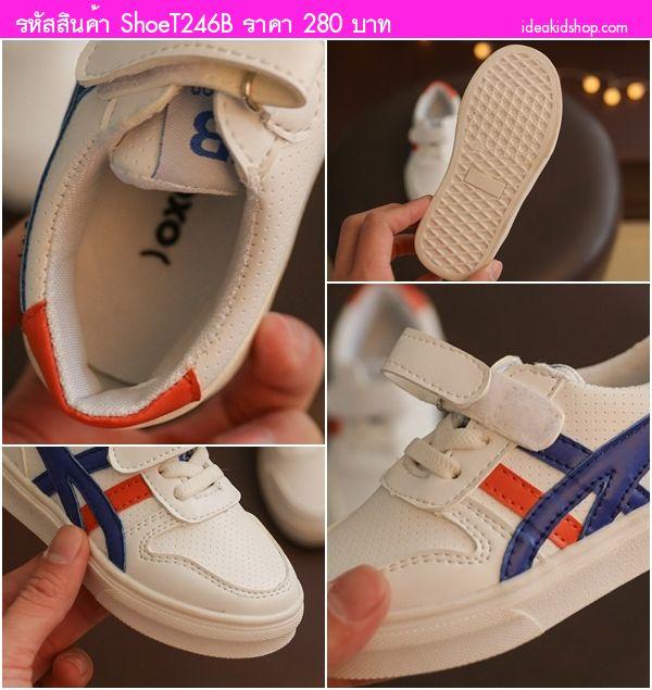 รองเท้าผ้าใบ Suapxo สไตล์ โอนิ(21-25) สีขาวน้ำเงิน