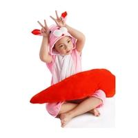 ชุดแฟนซีเด็กมีฮู้ดแขนสั้น-กระต่ายจอมซน-สีชมพู