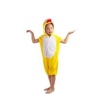 ชุดแฟนซีเด็กมีฮู้ดแขนสั้น-เป็ดน้อย-สีเหลือง