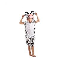 ชุดแฟนซีเด็กมีฮู้ดแขนสั้น-แม่วัวนม-สีขาวดำ