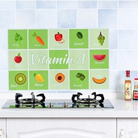 สติ๊กเกอร์กระดาษมันกันน้ำมัน-ลายผักผลไม้(2-อัน)