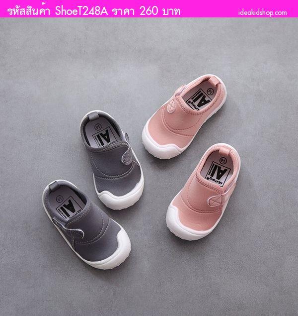รองเท้าผ้าใบแฟชั่น AilvYang เทปคาด สีชมพู