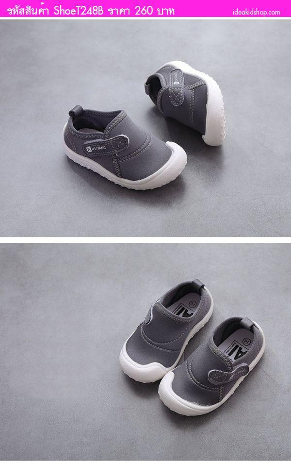 รองเท้าผ้าใบแฟชั่น AilvYang เทปคาด สีเทา