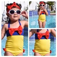 ชุดว่ายน้ำวันพีชแบบผูกคอ_ที่คาดผม-Snow-White-