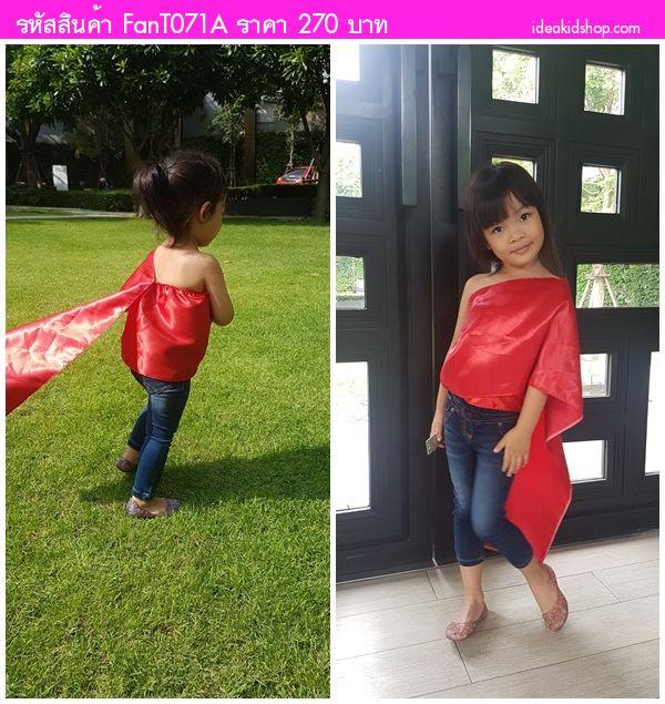 ชุดไทย เสื้อสไบ ลายไทย สีแดง