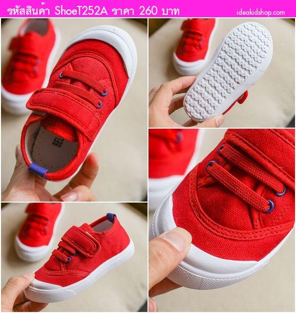 รองเท้าผ้าใบแฟชั่น Sport สีแดง