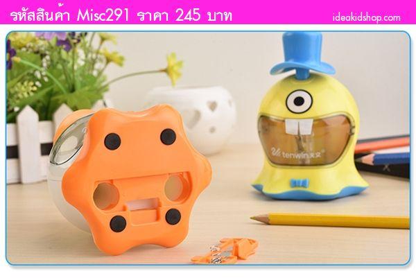 กบเหลาดินสอไฟฟ้า อัตโนมัติ Monster สีเหลือง