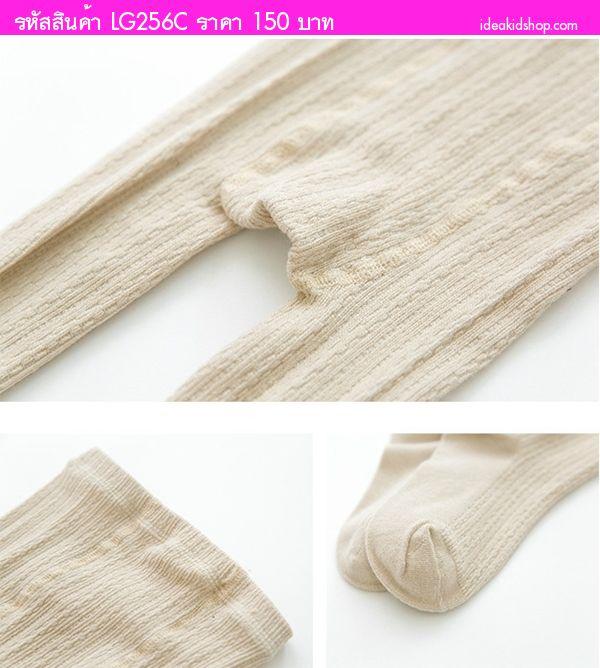 กางเกงเลกกิ้งลองจอนผ้าร่อง พื้นสีเรียบ สีเลือดหมู