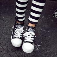 รองเท้าหนังหุ้มข้อซิปข้างสไตล์เกาหลี-สีดำ