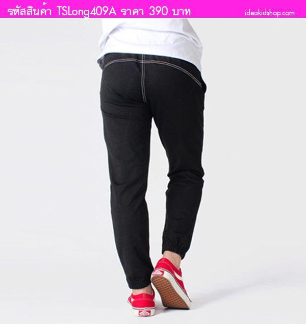 กางเกงวอร์มขายาว AOWKULAE สีดำ