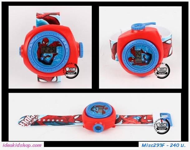 นาฬิกาโปรเจคเตอร์ ลาย Spider Man