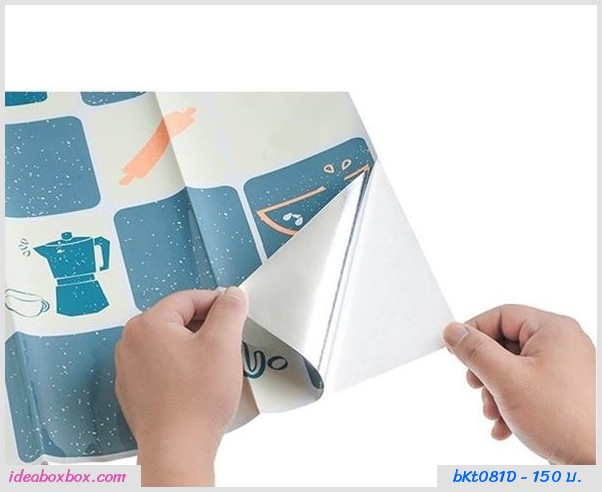 สติ๊กเกอร์กระดาษมันกันน้ำมัน ลายแมวเหมียว(2 อัน)