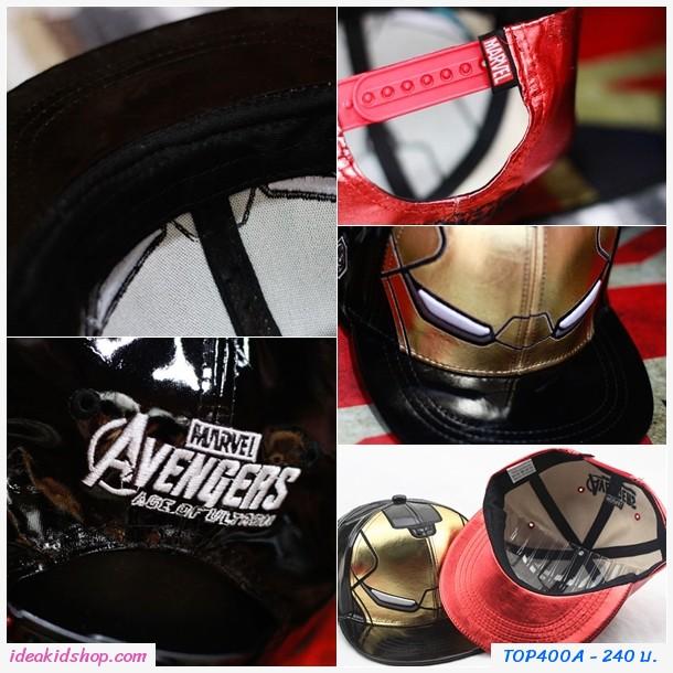 หมวกเด็ก Snapback Avengers Iron Man สีแดง