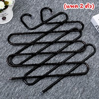 ไม้แขวนผ้า-ประหยัดพื้นที่-สีดำ(แพค-2-ตัว)