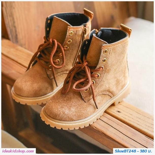 รองเท้าบูทสั้นอินดี้ สีน้ำตาล