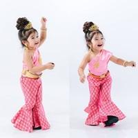 ชุดไทยสไบขาม้า-สีชมพู