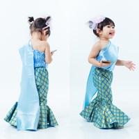 ชุดไทยสไบขาม้า-สีฟ้า