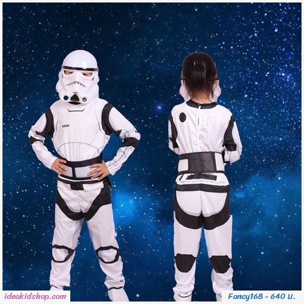 ชุดแฟนซี+หน้ากาก Cosplay ลาย Star Wars สีขาว