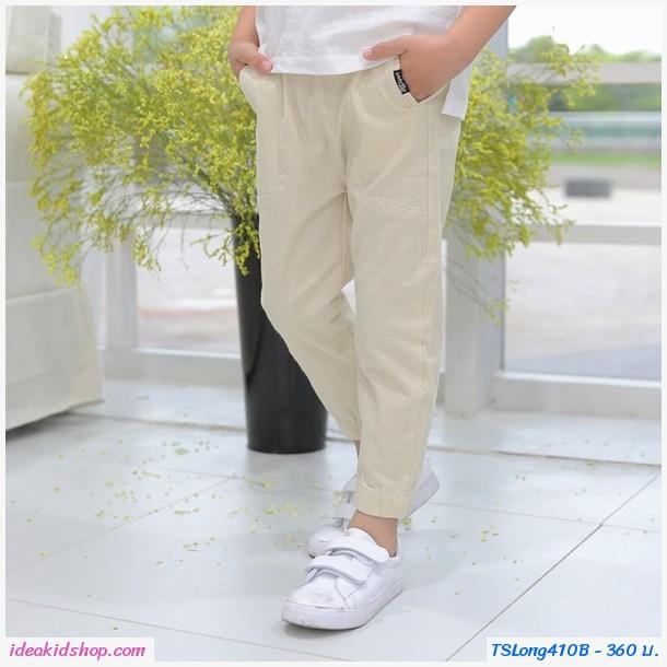 กางเกงขาจั๊มแฟชั่นสไตล์เกาหลี สีครีม