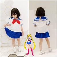 ชุดเสื้อกระโปรง-Sailor-Moon-สึคิโนะ-สีขาวน้ำเงิน