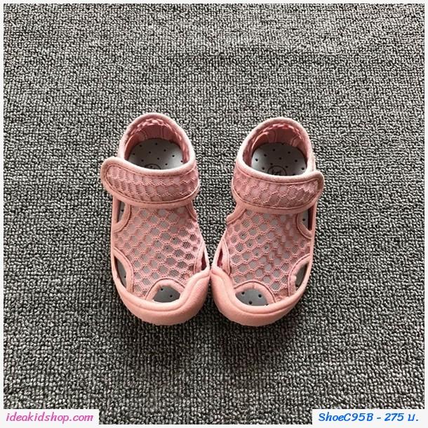 รองเท้าตาข่ายแบบสวม แฟชั่นสุด Chic สีชมพู