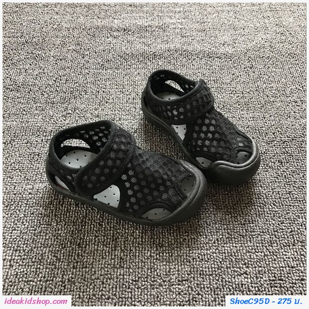รองเท้าตาข่ายแบบสวม แฟชั่นสุด Chic สีดำ