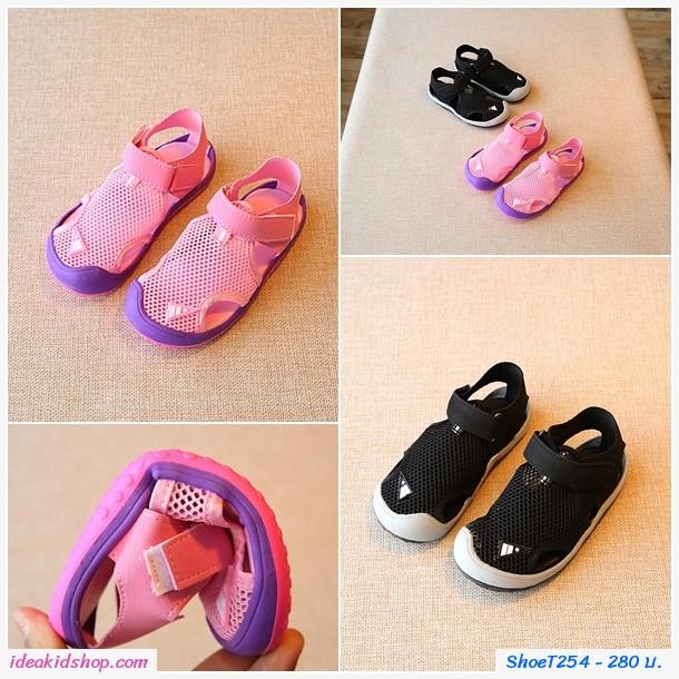 รองเท้าผ้าใบ Breathable Sandals  สีชมพู