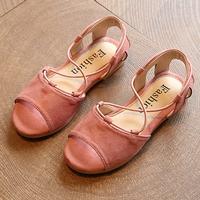 รองเท้ารัดส้น-สไตล์โบฮีเมียน-สีชมพู