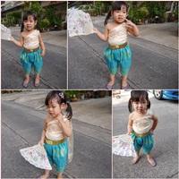 ชุดไทยเด็กสไบลูกไม้_โจงผ้าทอ-มินิการะเกด-สีฟ้าครีม