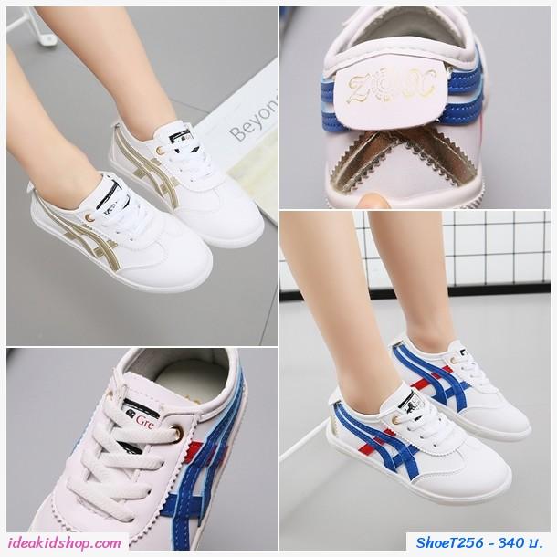 รองเท้าผ้าใบ XOZ สไตล์ โอนิ สีขาวเงิน
