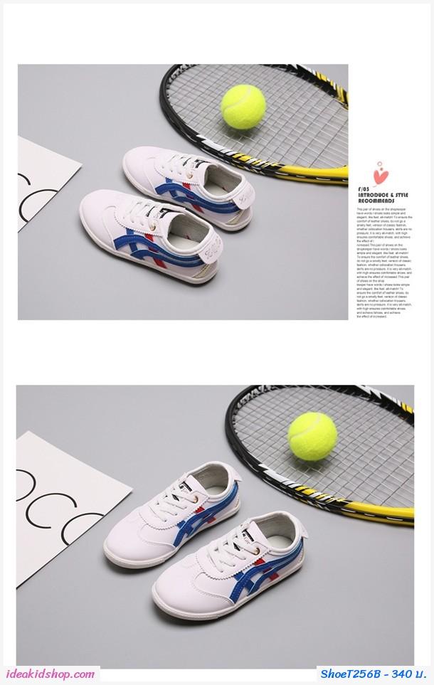 รองเท้าผ้าใบ XOZ สไตล์ โอนิ สีขาวน้ำเงิน