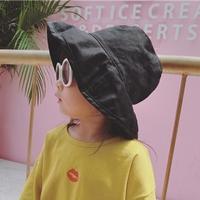 หมวกเด็กปีกรอบ-Japan-Fashion-สีดำ