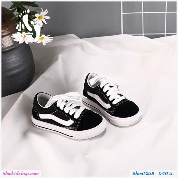 รองเท้าผ้าใบแฟชั่นสไตล์ Vans Old Skool Black สีดำ