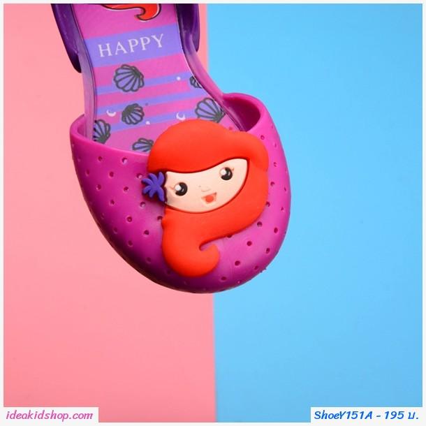 รองเท้ารัดส้น เจ้าหญิง Mermaid Melissa สีชมพู