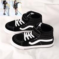 รองเท้าผ้าใบหุ้มข้อ-Vans-Old-Skool-Black-สีดำ