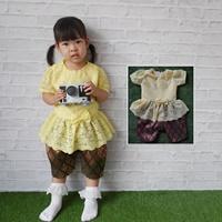 ชุดไทยเสื้อลูกไม้_โจงกระเบนแพรทิพย์-สีเหลือง