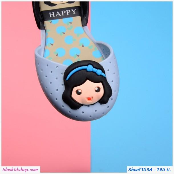 รองเท้ารัดส้นทูโทน Snow White Melissa สีชมพู
