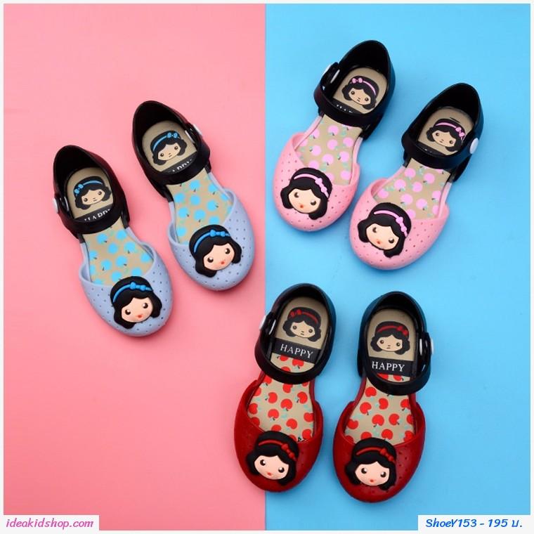 รองเท้ารัดส้นทูโทน Snow White Melissa สีฟ้า