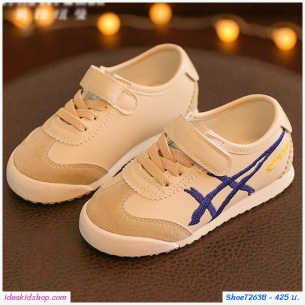 รองเท้าผ้าใบ MIQIHU สไตล์โอนิ สีครีม