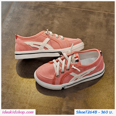 รองเท้าผ้าใบสไตล์โอนิ Yemen Fashion สีชมพู
