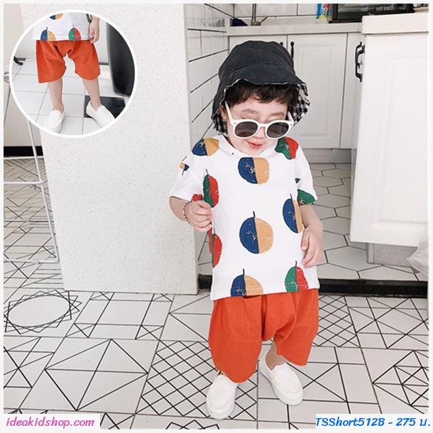กางเกงแฟชั่นสีพื้นสไตล์นายหัว สีส้มอิฐ