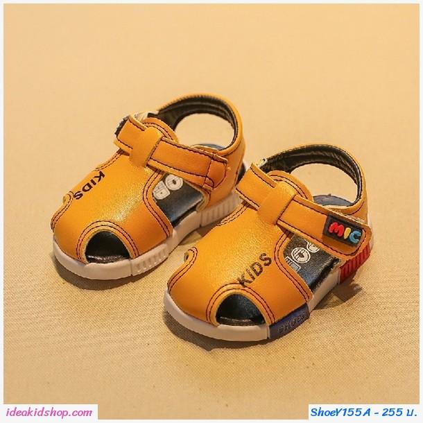 รองเท้ารัดส้นน่ารัก KIDS MIC สีเหลือง