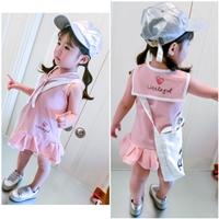 เดรสเด็กคอทหารเรือ-Little-Girl-สีชมพู