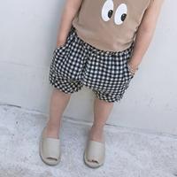 กางเกงเด็กแฟชั่น-ขาสั้น-Mystery-Square-สีดำ
