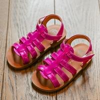 รองเท้าร้ดส้นหนังเงาแบบสาน-สีชมพู