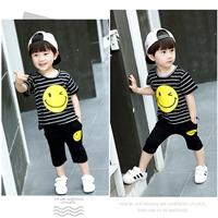ชุดเด็ก-เสื้อกางเกงลายทาง-Smile-Twinkle-สีดำ