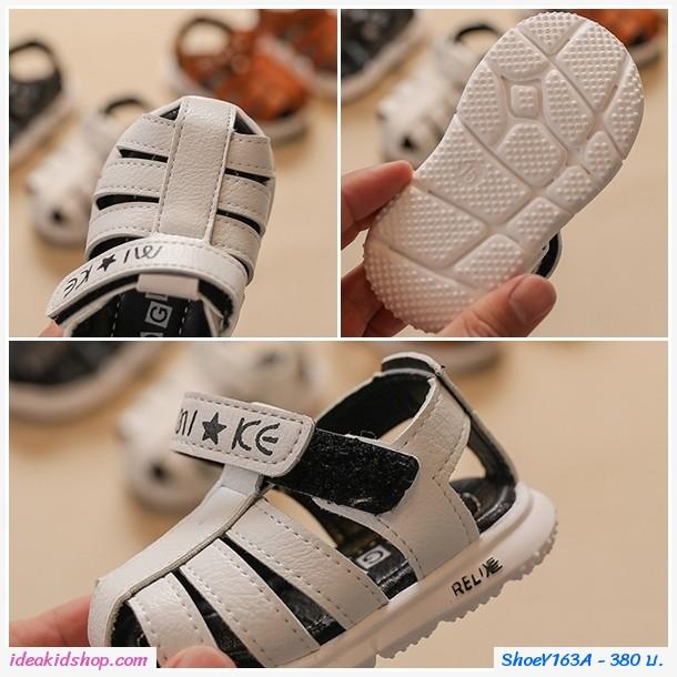 รองเท้ารัดส้นสไตล์สกอลล์ Relix สีน้ำตาล